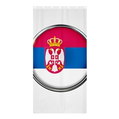Serbia Flag Icon Europe National Shower Curtain 36  X 72  (stall)