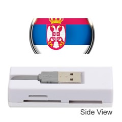 Serbia Flag Icon Europe National Memory Card Reader (stick)