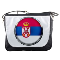 Serbia Flag Icon Europe National Messenger Bags
