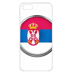 Serbia Flag Icon Europe National Apple Iphone 5 Seamless Case (white)