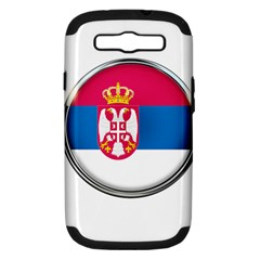 Serbia Flag Icon Europe National Samsung Galaxy S Iii Hardshell Case (pc+silicone)