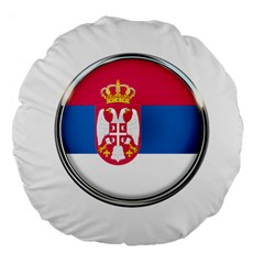 Serbia Flag Icon Europe National Large 18  Premium Round Cushions by Nexatart