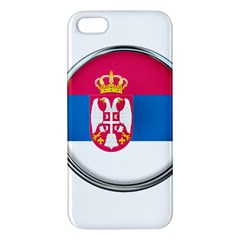 Serbia Flag Icon Europe National Apple Iphone 5 Premium Hardshell Case