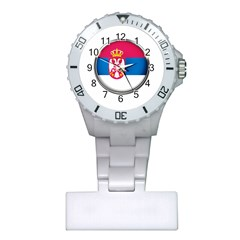 Serbia Flag Icon Europe National Plastic Nurses Watch