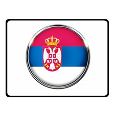 Serbia Flag Icon Europe National Double Sided Fleece Blanket (small)
