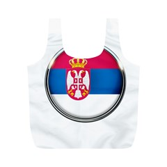 Serbia Flag Icon Europe National Full Print Recycle Bags (m)