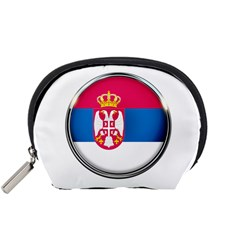 Serbia Flag Icon Europe National Accessory Pouches (small)
