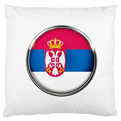 Serbia Flag Icon Europe National Large Flano Cushion Case (one Side)