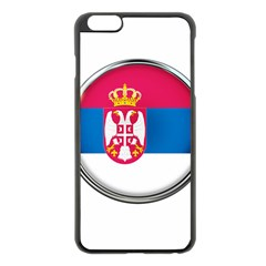 Serbia Flag Icon Europe National Apple Iphone 6 Plus/6s Plus Black Enamel Case