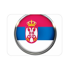 Serbia Flag Icon Europe National Double Sided Flano Blanket (mini)  by Nexatart