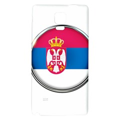 Serbia Flag Icon Europe National Galaxy Note 4 Back Case