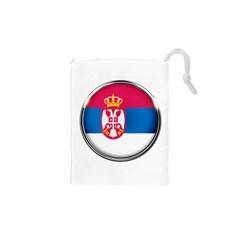 Serbia Flag Icon Europe National Drawstring Pouches (xs)