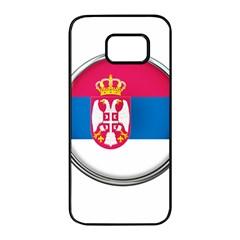 Serbia Flag Icon Europe National Samsung Galaxy S7 Edge Black Seamless Case by Nexatart