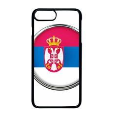 Serbia Flag Icon Europe National Apple Iphone 8 Plus Seamless Case (black)