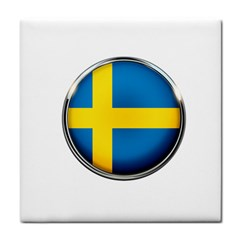 Sweden Flag Country Countries Tile Coasters