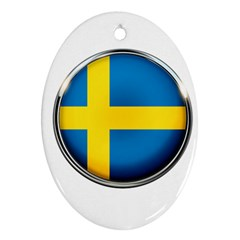 Sweden Flag Country Countries Ornament (oval)