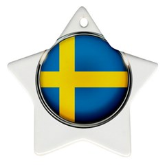 Sweden Flag Country Countries Ornament (star)