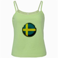 Sweden Flag Country Countries Green Spaghetti Tank