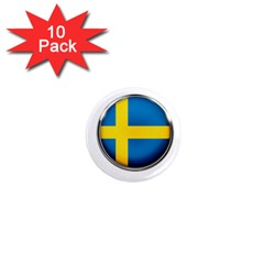 Sweden Flag Country Countries 1  Mini Magnet (10 Pack)