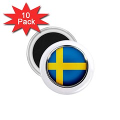 Sweden Flag Country Countries 1 75  Magnets (10 Pack)