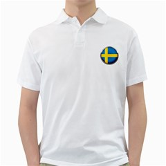 Sweden Flag Country Countries Golf Shirts