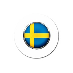 Sweden Flag Country Countries Magnet 3  (round)