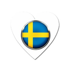 Sweden Flag Country Countries Heart Magnet by Nexatart
