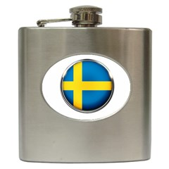 Sweden Flag Country Countries Hip Flask (6 Oz)