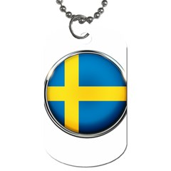 Sweden Flag Country Countries Dog Tag (two Sides) by Nexatart