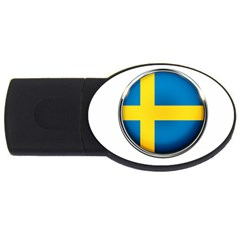 Sweden Flag Country Countries Usb Flash Drive Oval (2 Gb)