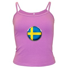 Sweden Flag Country Countries Dark Spaghetti Tank