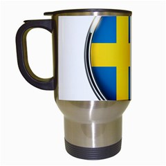 Sweden Flag Country Countries Travel Mugs (white)