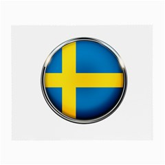Sweden Flag Country Countries Small Glasses Cloth