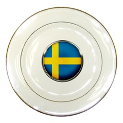 Sweden Flag Country Countries Porcelain Plates