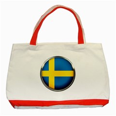 Sweden Flag Country Countries Classic Tote Bag (red)
