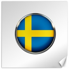 Sweden Flag Country Countries Canvas 12  X 12
