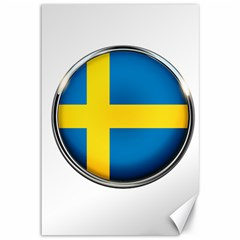 Sweden Flag Country Countries Canvas 12  X 18