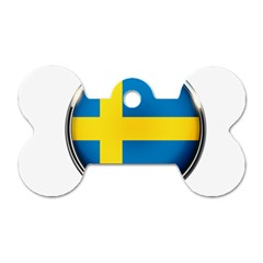 Sweden Flag Country Countries Dog Tag Bone (two Sides)