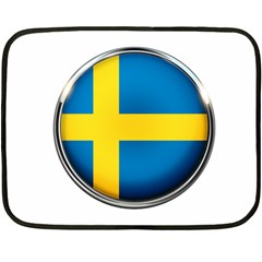 Sweden Flag Country Countries Fleece Blanket (mini)