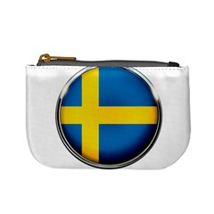 Sweden Flag Country Countries Mini Coin Purses