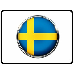 Sweden Flag Country Countries Fleece Blanket (large)