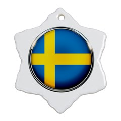 Sweden Flag Country Countries Snowflake Ornament (two Sides)