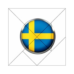 Sweden Flag Country Countries Acrylic Tangram Puzzle (6  X 6 ) by Nexatart