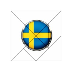 Sweden Flag Country Countries Acrylic Tangram Puzzle (4  X 4 ) by Nexatart