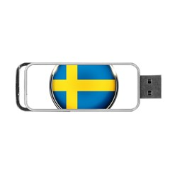 Sweden Flag Country Countries Portable Usb Flash (two Sides)