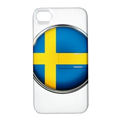 Sweden Flag Country Countries Apple Iphone 4/4s Hardshell Case With Stand