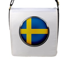 Sweden Flag Country Countries Flap Messenger Bag (l)