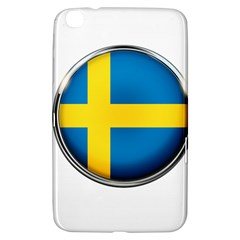 Sweden Flag Country Countries Samsung Galaxy Tab 3 (8 ) T3100 Hardshell Case