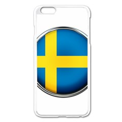 Sweden Flag Country Countries Apple Iphone 6 Plus/6s Plus Enamel White Case by Nexatart