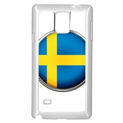 Sweden Flag Country Countries Samsung Galaxy Note 4 Case (white)
